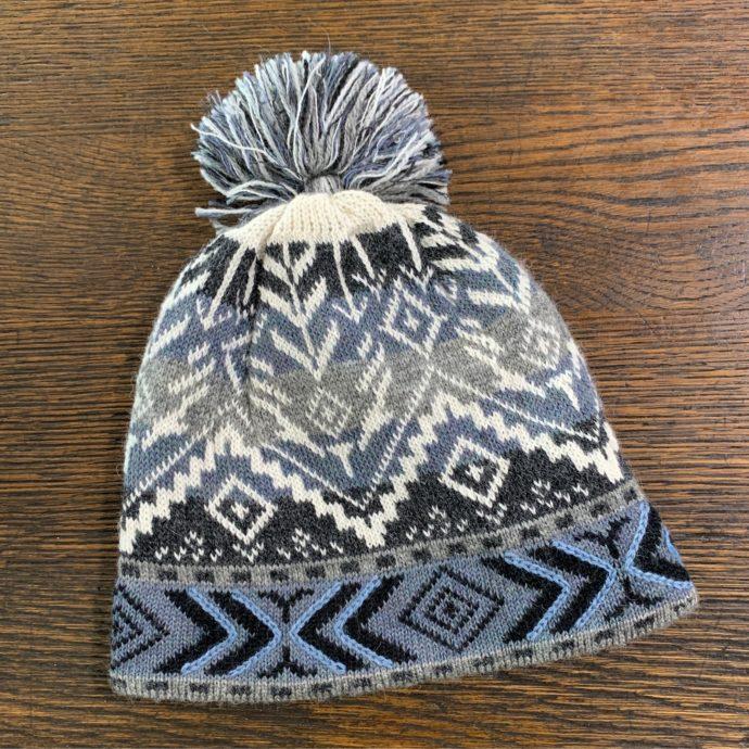 Lined Ice Blue Ski Hat