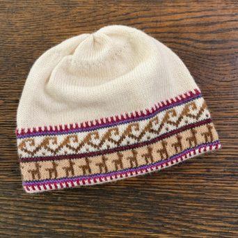 Baby Alpaca Peruvian Scull Cap With Alpaca Print