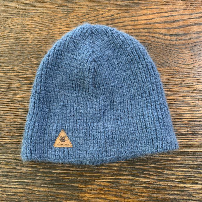 Blue Waffle Alpaca Hat in 100% Baby Alpaca