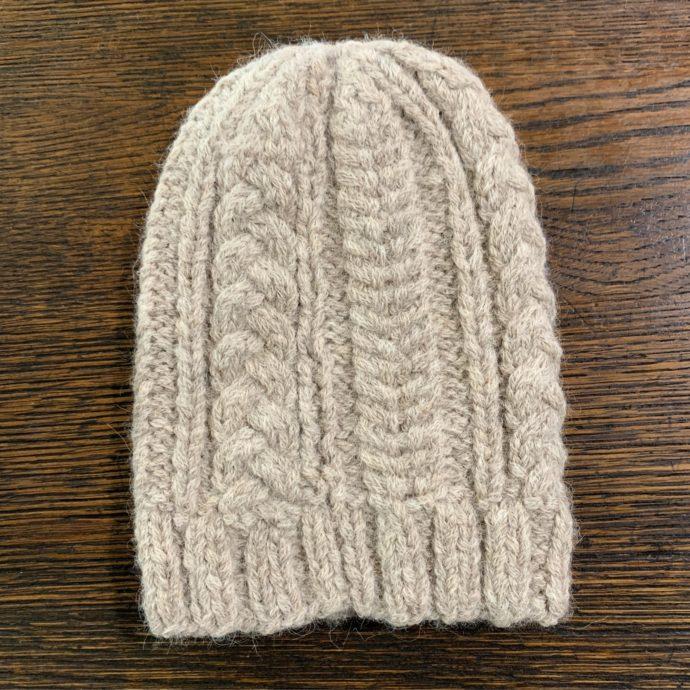 Chunky Knit Hat in 93% Alpaca 7% Polyamide