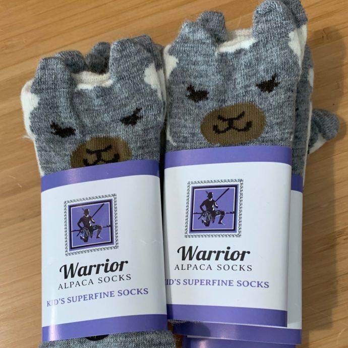 Warrior Alpaca Face Toddler 2-5 Socks