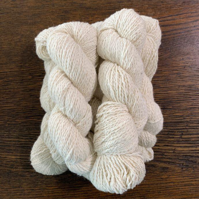 Dolly White Alpaca Yarn in 2 Ply DK