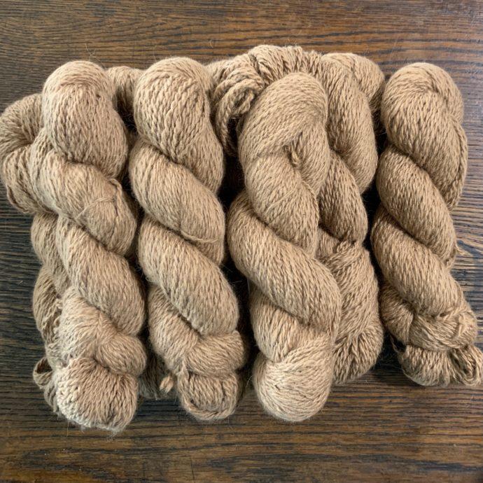 Teddy Medium Fawn Alpaca Yarn in 2 Ply DK