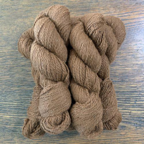 Lily & Miracle Dark Brown Alpaca Yarn in 2 Ply Worsted