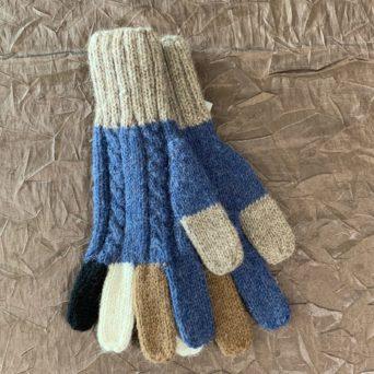Alpaca Colorful Finger Gloves in 100% Superfine Alpaca