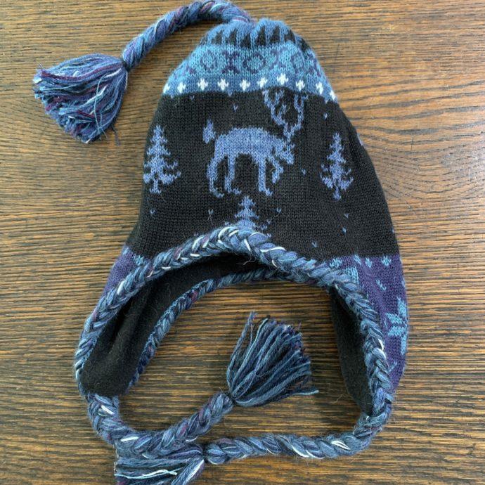 Kids Moose Hat - Blue and Black