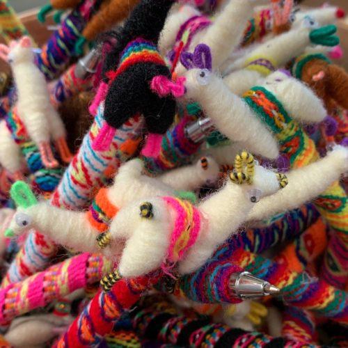 Llama Pens Handmade With Woven Fiber
