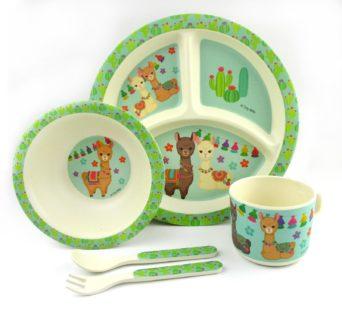 Children's Llama Dinnerware - Set of 5 Dishes