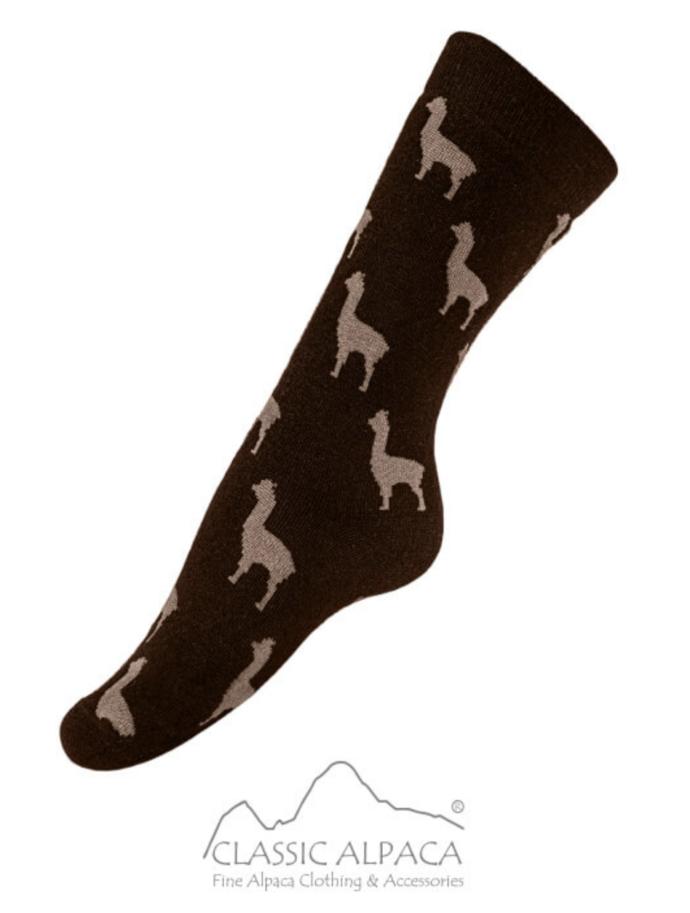 CA Alpaquita Unisex Socks in Black and Grey