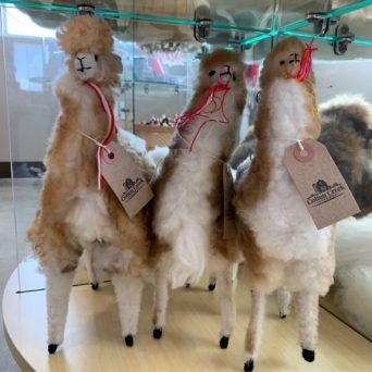 White Plush Alpaca With Tassles - 6 Inch