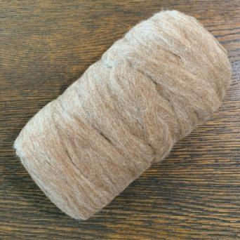 Grade 4 Alpaca Roving Light Grey 6.4 oz