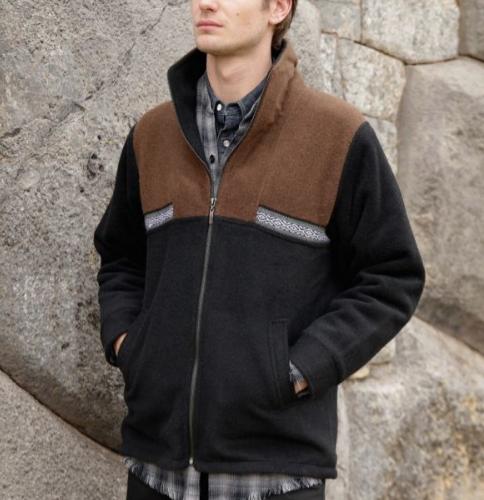 Manta Jacket in Brown and Black