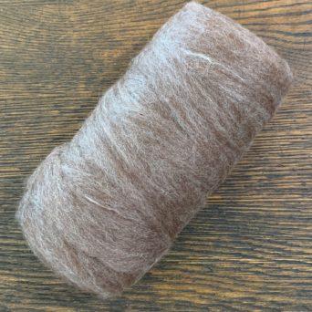 Grade 4 Alpaca and 5% Tencel Roving Dark Rose Grey 5.3 oz