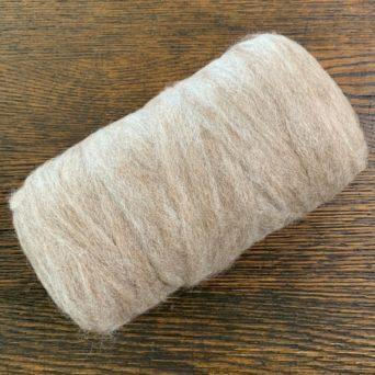 Grade 4 Alpaca Roving With 5% Silk - Light Rose Grey - 5.9 oz