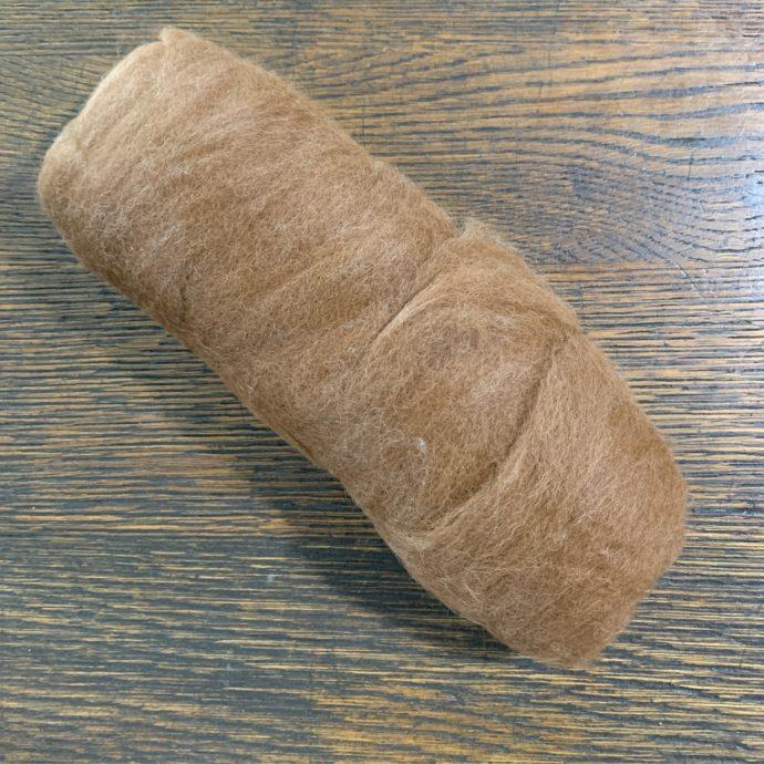 Grade 4 Alpaca Roving Brown 3.2 oz