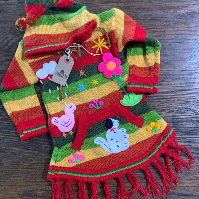 Kids Arpillera Poncho/Sweater
