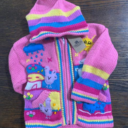 Child's Sweater With Barn Scene