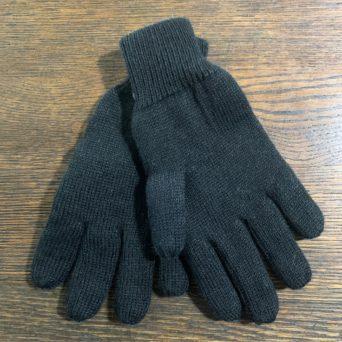 Reversible Knit Gloves in XL Black/Brown