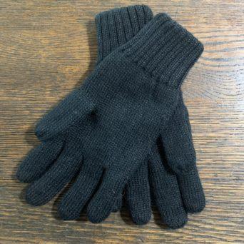 Reversible Knit Gloves in Large Black/Brown
