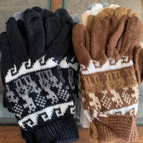 Alpaca Print Knit Gloves