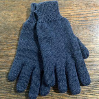 Reversible Alpaca Knit Gloves in XL Navy/Grey