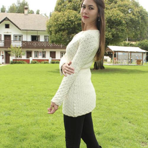 Jeannette Knit Sweater in 100% Baby Alpaca