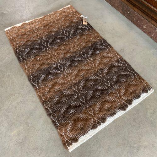 2x3 High Texture Alpaca Rug - Light to Dark Rose Grey Mix