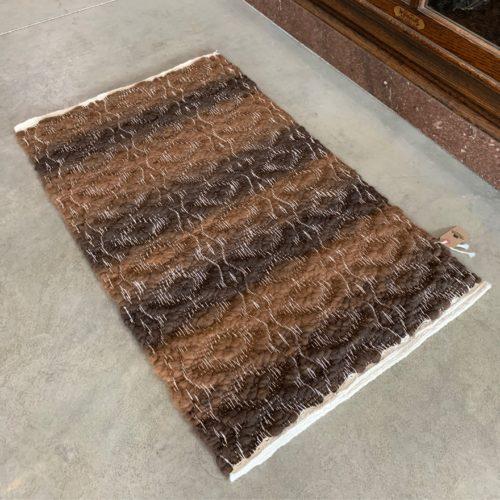 2x3 High Texture Alpaca Rug - Light to Dark Rose Grey Mix (24x39)
