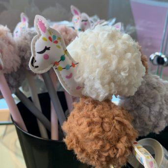 Llama Hair Ball Gel Pens