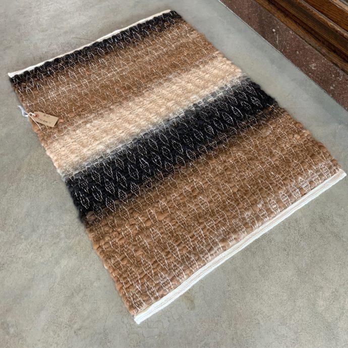 2x3 High Texture Alpaca Rug - Black and Rose Grey Mix