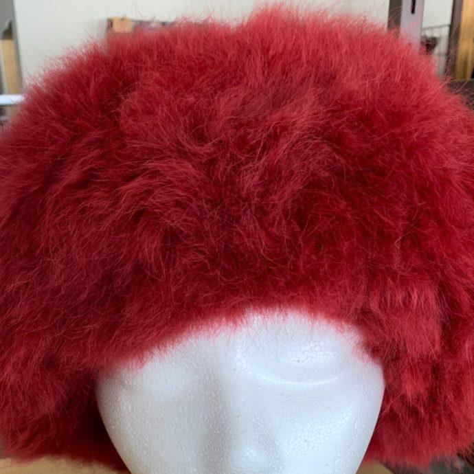 Red Baby Alpaca Fur Hat