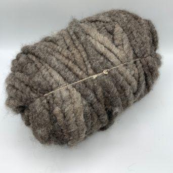 Alpaca Rug Yarn in Solid Silver Grey