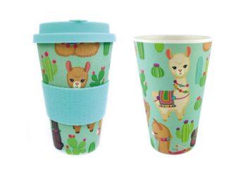Cactus and Llama Travel Mug