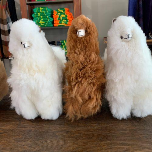 Plush Alpaca in White or Brown - 12 Inch