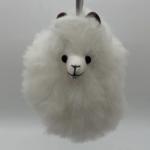 Alpaca Head PomPom Keychain