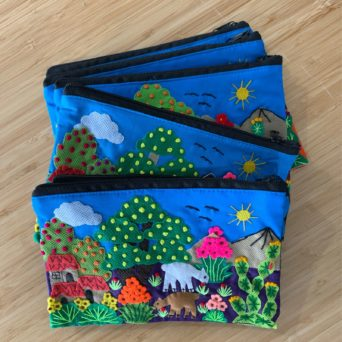 Lined Pencil Case With Fabric Design