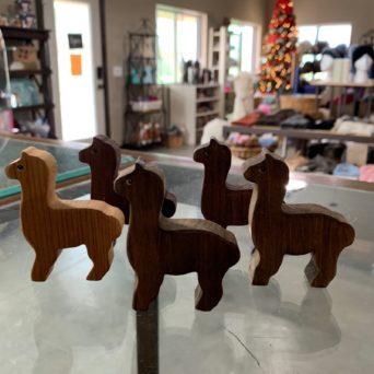 """3"""" Wooden Alpacas"""