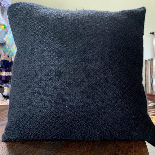 Black Knit Alpaca PIllow