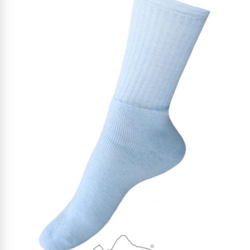 Lightweight Blue Alpaca Crew Socks