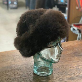 Black Baby Alpaca Fur Hat