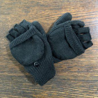 Black Glittens Made from Alpaca Blend