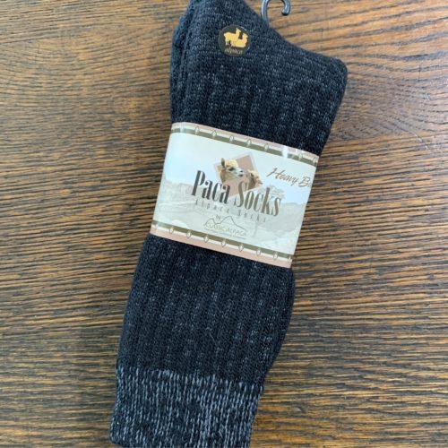 Black Heavy Boot Paca Socks in an Alpaca Blend