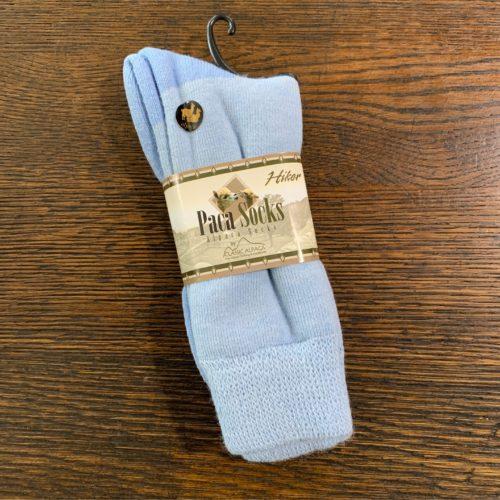 Light Blue Hiker Socks in Alpaca Blend in Medium