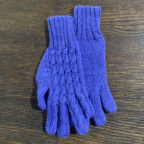 Periwinkle Alpaca Gloves