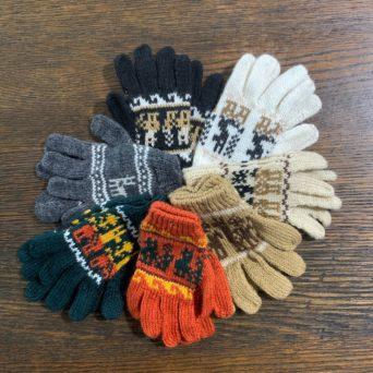 Children's Alpaca Gloves in Fun Peruvian Designs