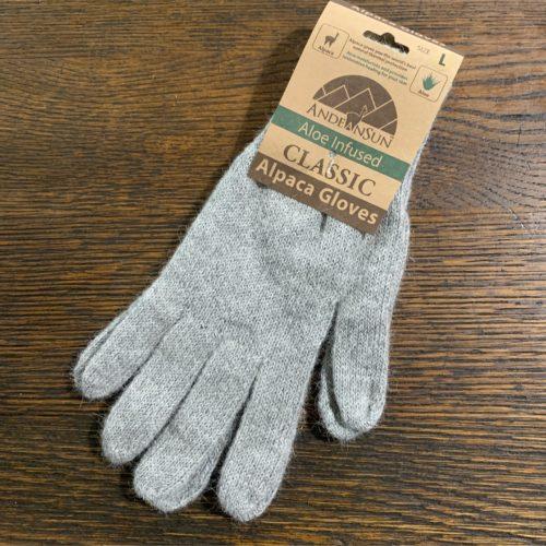 AS Light Grey Alpaca Gloves in Large