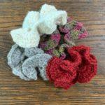 Knit Alpaca Scrunchies