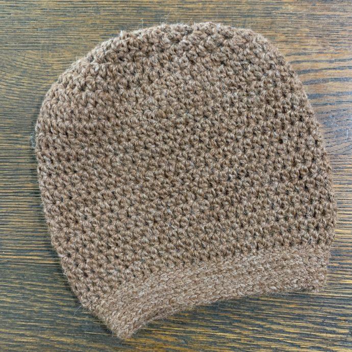 Light Brown Slouch Hat in Baby Alpaca