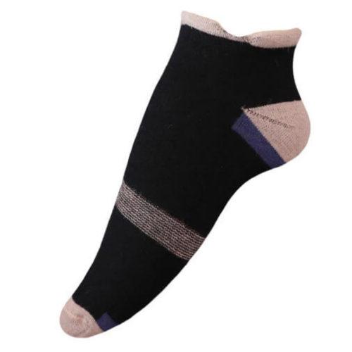 Unisex Alpaca Golf Socks in Black & Beige