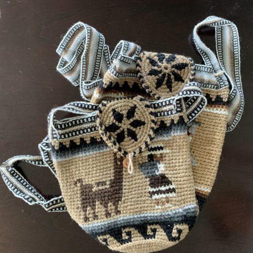 Crocheted Alpaca Print Purse